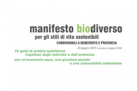 Manifesto BioDiverso degli stili di vita sostenibili