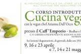 Corso di cucina vegana, dal 9 aprile, presso il bioEmporio della libreria Masone Alisei. Coerenze:19/20