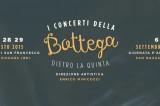 Concerti della Bottega 2015. Programma. Con cenebaratto e Giornata P'Artigianale