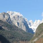 Le Dolomiti viste dal lago di Molveno